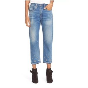 NEW Rag and Bone Vintage High Rise Crop Jeans
